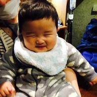 フサフサヘアーで胎毛筆を♪イッショウ君(6ヶ月)