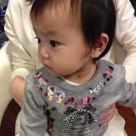 パパに前髪を切ってもらったけど...☆サアヤちゃん(1歳)