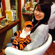 生後2ヵ月の息子 チヨ君と来店♪