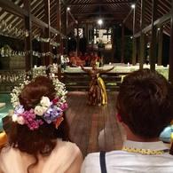 バリ島での結婚式☆ヘアメイク